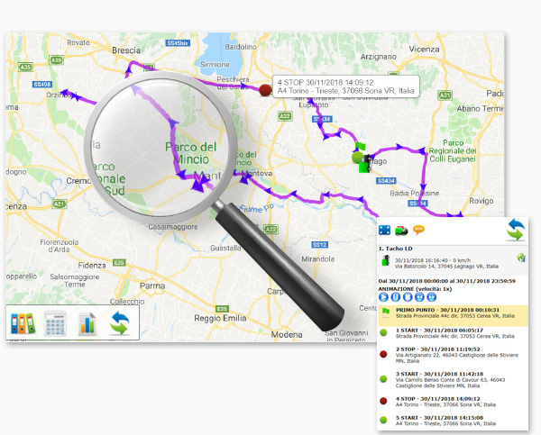 TRACKER PERCORSO SOSTE